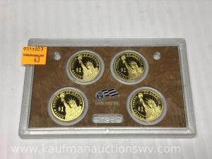 United States mint presidential $1 coin proof set