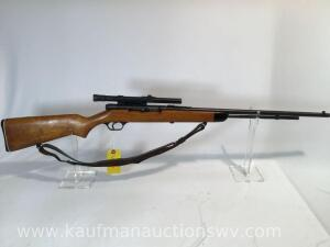 Stevens model 87B semi auto 22 caliber , weaver b4 scope-serial #N/A -Action does not open