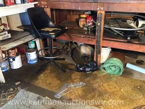Shop stool, copper tubing, chainsaw chains and more