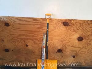 4 x 8 sheet of plywood, Poly snow shovel, door bottom