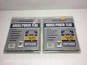 2 WV mountaineers two sided house/porch flags