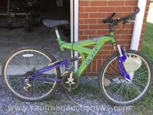 Huffy GIK1 dual suspension bike