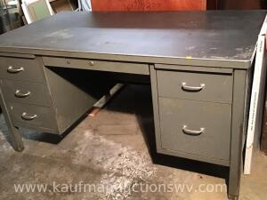 Metal 6 drawer desk