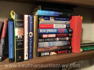 Rush Limbaugh, Sarah Palin, mitt Romney, George Bush, and more books