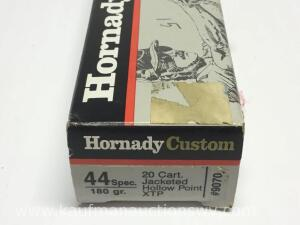 15 Hornady custom 44 special 180 grain jacketed hollow point cartridges