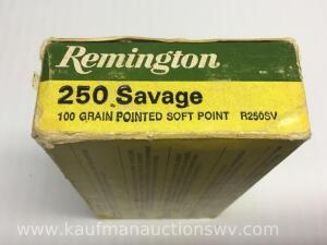 20 Remington 250 savage 100 grain pointed soft point