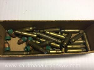 Brass casings and muzzleloader bullets