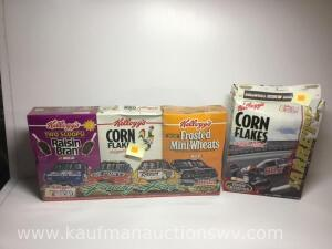 Kellogg's cereal Boxes with NASCAR advertising