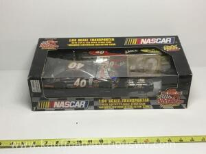 NASCAR 1/64 scale and 1/24 scale stock cars and transport truck