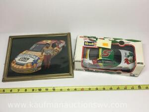 Tony Lamont signed picture and revell Limited edition car