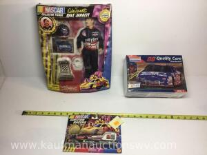 Dale Jarrett 12 inch collector figure, Number 88 model kit, number 88 ignition racer