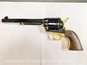 Custom single action army 45 Colt royal blue/gold plated serial# S75010A 1 of 1