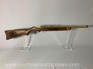 Ruger 10-22 model 01103 22LR buckhannon 24 of 25 serial #25382472, Gold Plated