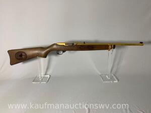 Ruger 10-22 model 01103 22LR buckhannon 21 of 25 serial #25297079 Gold Plated