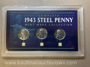 1943 steel penny mint mark collection
