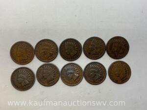 10 different dates Indian cents