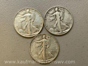 1940, 1942, 1946 liberty walking halves