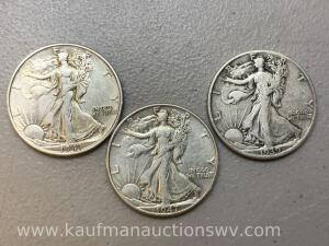 1939, 1943, 1947 liberty walking halves