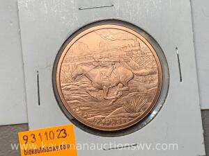 1 ounce copper bullion
