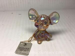 "3"" handpainted Fenton mouse"