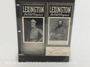 Flyer with picture of Robert E Lee and Stonewall Jackson