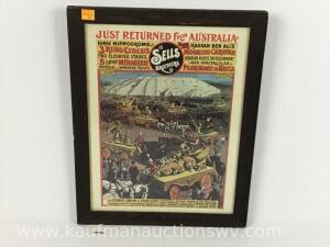 Sells Brothers circus advertising poster