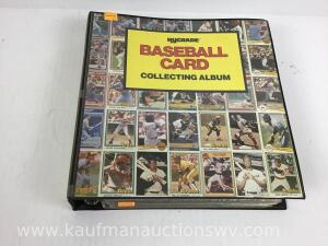 Baseball card collecting album, KB superstars, Fleer limited edition, Donruss highlights, Fleer baseball Best, tops and other cards