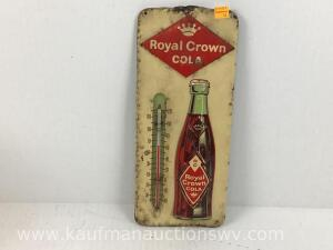 Royal crown cola metal thermometer