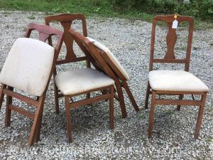 Four folding kitchen table chairs