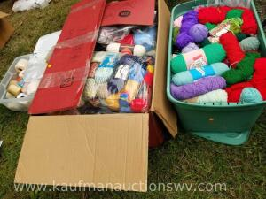 Large lot of yarn and embroidery thread