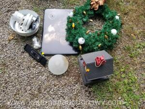 Miller lite Christmas wreath, ceiling fan, bird feeder and more