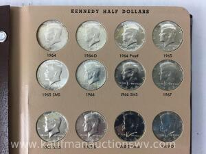 144 Kennedy halves -1964 thru 2007 missing 1995S proof
