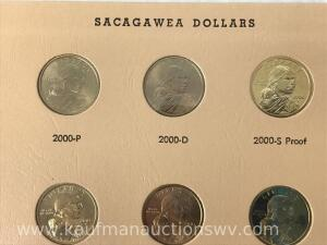 57 Sacagawea dollars -Complete through 2018 S with proofs
