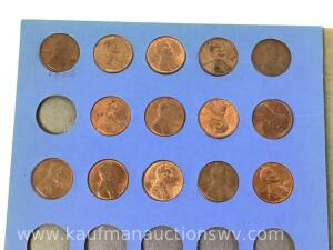 58 P mint Lincoln cents, 14 assorted Lincoln cents