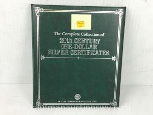 Complete collection of 20th century one dollar silver certificates
