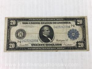 1914 federal reserve Chicago $20 bank note
