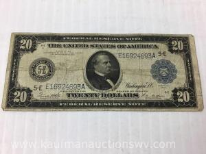 1914 federal reserve Richmont $20 note