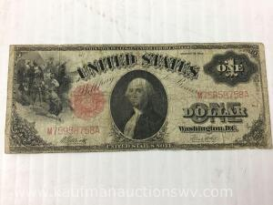 1917 one Dollar Columbus red seal note
