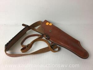 Thompson center arms leather shoulder holster