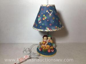 Lambs and ivy Raggedy Ann and Andy nursery lamp