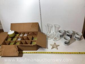 Anger hocking cups, 19 £.87 Susan Castriota Hoag mugs, wine glasses, cast iron star