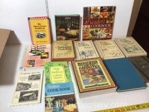 Selection of Cookbooks including Amish country cookbook set