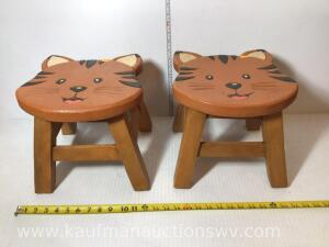Wooden Kitten stools