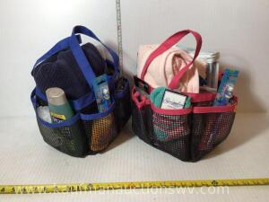 2 carry bags with travel supplies