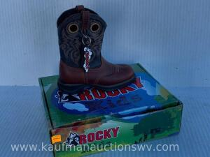 Rocky youth cowboy boot size 11.5 M