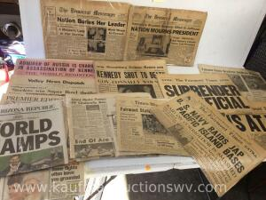 Fairmont times, the Democrat messenger, and more newspapers -40s and newer