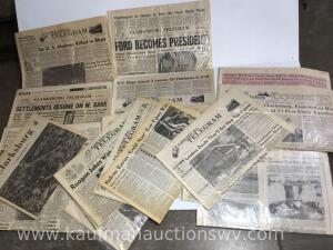 Selection of Clarksburg newspapers
