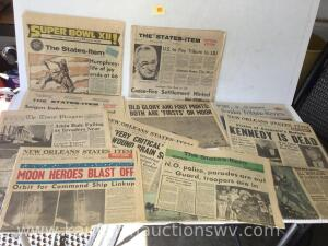Selection of New Orleans newspapers
