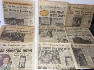 Selection of Pittsburgh press newspapers