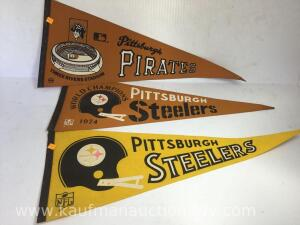 Pittsburgh pirates, Steelers pennants